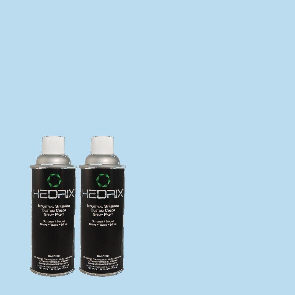Hedrix 11 oz. Match of 540A-3 Blue Feather Semi-Gloss Custom Spray Paint (2-Pack)
