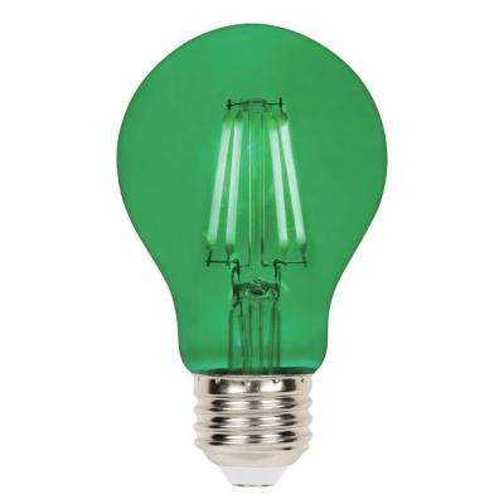 40-Watt Equivalent A19 Dimmable Green Filament LED Light Bulb