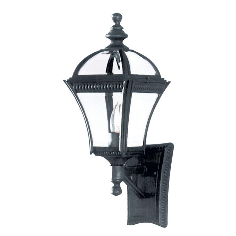 Stewart 1-Light Black Outdoor Incandescent Wall Lantern