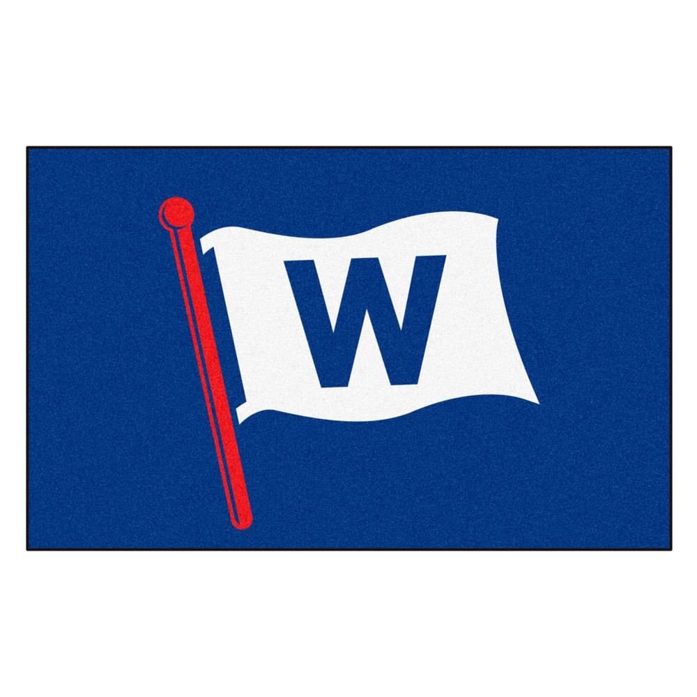 Fanmats Chicago Cubs Blue 7 Ft 10 5 In X 4 Ft 11 5 In