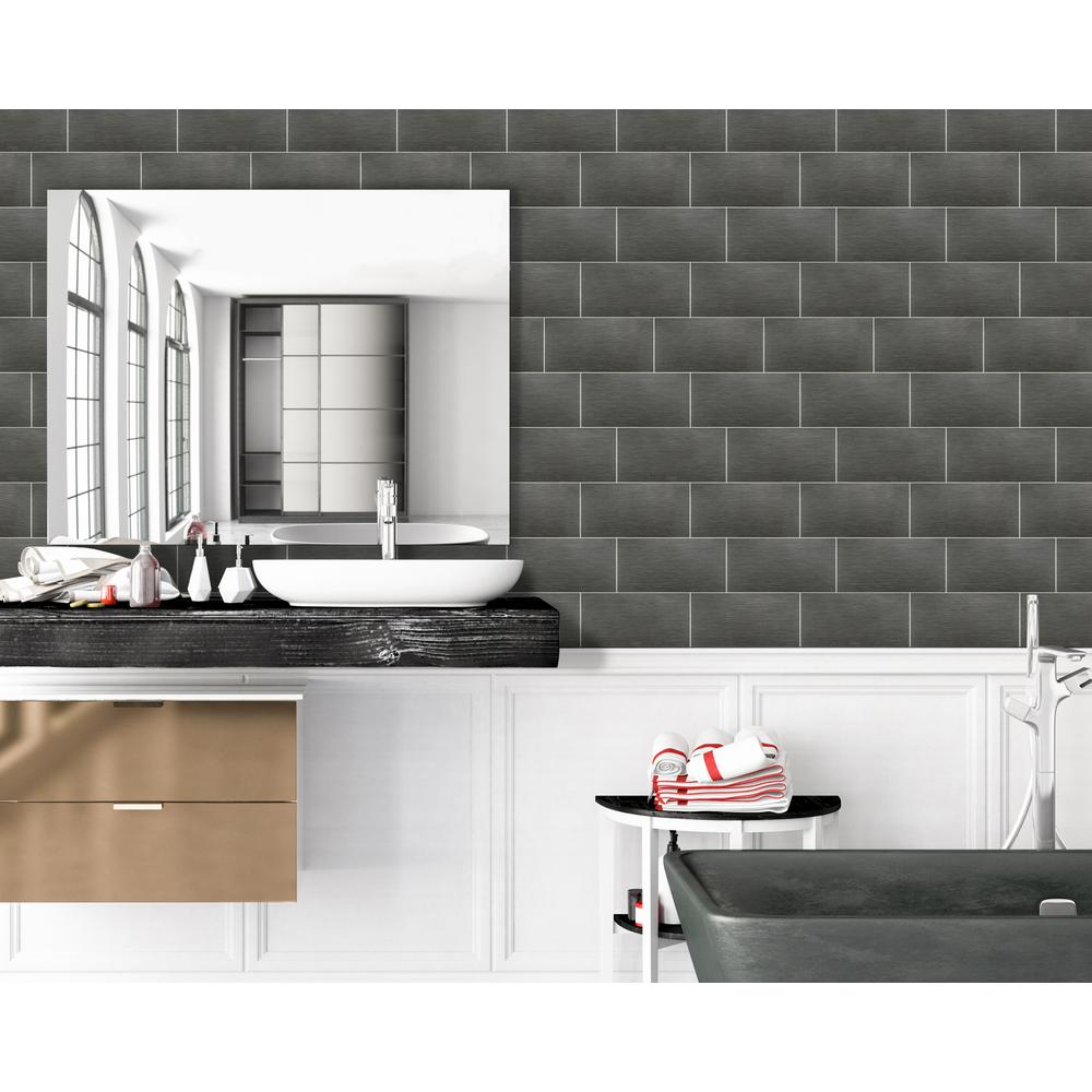 Msi Metro Gris 10 In X 20 In Glossy Ceramic Wall Tile 11 11 Sq Ft Case Nhdmetgri10x20 The Home Depot