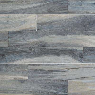 Rio Tiger Blue 8 in. x 48 in. 7.5mm Matte Porcelain Floor and Wall Tile (10.32 sq. ft. / 4 pieces/ case)