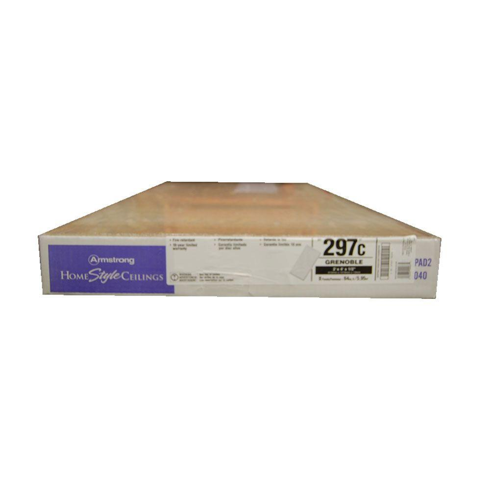 Armstrong grenoble 24 in x 48 in x 12 in square lay in ceiling armstrong grenoble 24 in x 48 in x 12 in square lay in ceiling panel case of 8 297 the home depot dailygadgetfo Choice Image