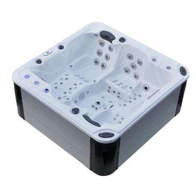 Hurricane 4-Person 102-Jet Spa with LED Lights, Bluetooth, Wi-Fi and Aluminum Panels