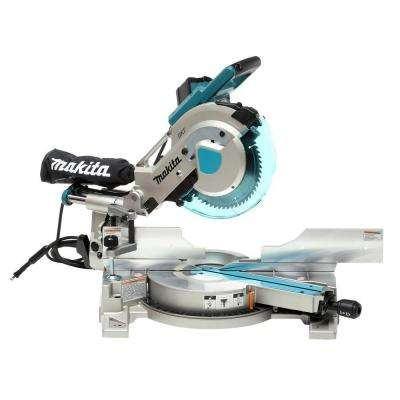 15 Amp 10 in. Corded Double Bevel Sliding Compound Miter Saw with Laser and blade, dust bag, clamp, wrench, triangle