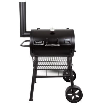 Heavy-Duty Compact Barrel Charcoal Grill in Black