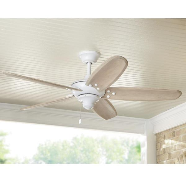 Home Decorators Collection Altura 48 In Indoor Outdoor Matte White Ceiling Fan 51746 The Home Depot