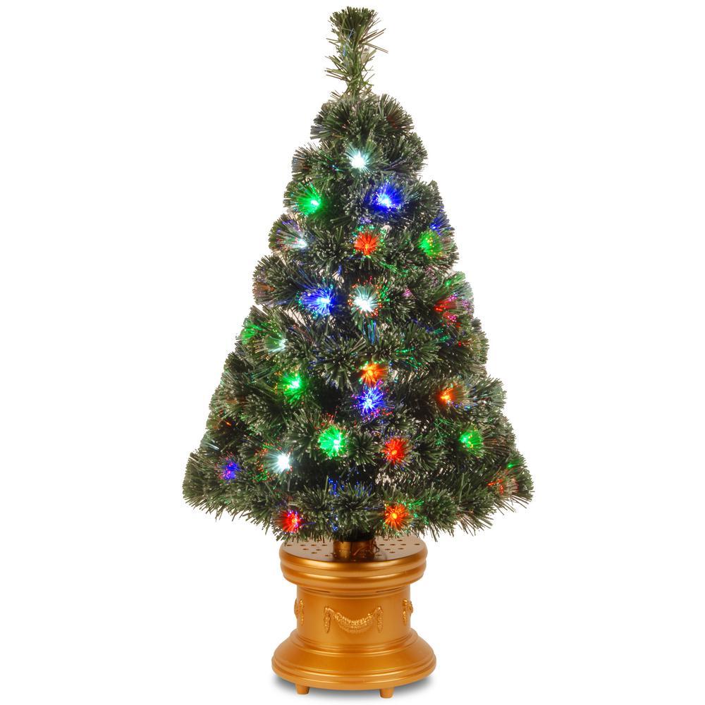 3 Ft. Fiber Optic Evergreen Fireworks Artificial Christmas Tree