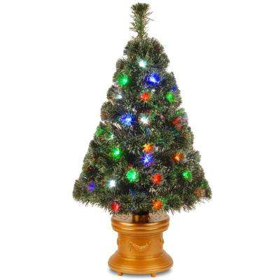 3 ft. Fiber Optic Evergreen Fireworks Artificial Christmas Tree - Fiber Optic Christmas Trees - Artificial Christmas Trees - The Home
