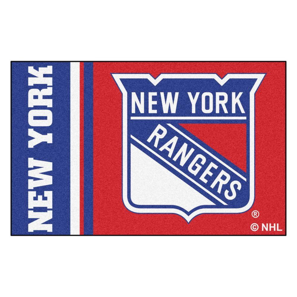 FANMATS NHL - New York Rangers Red 2 ft. x 3 ft. Indoor Area Rug ... 449d3da89