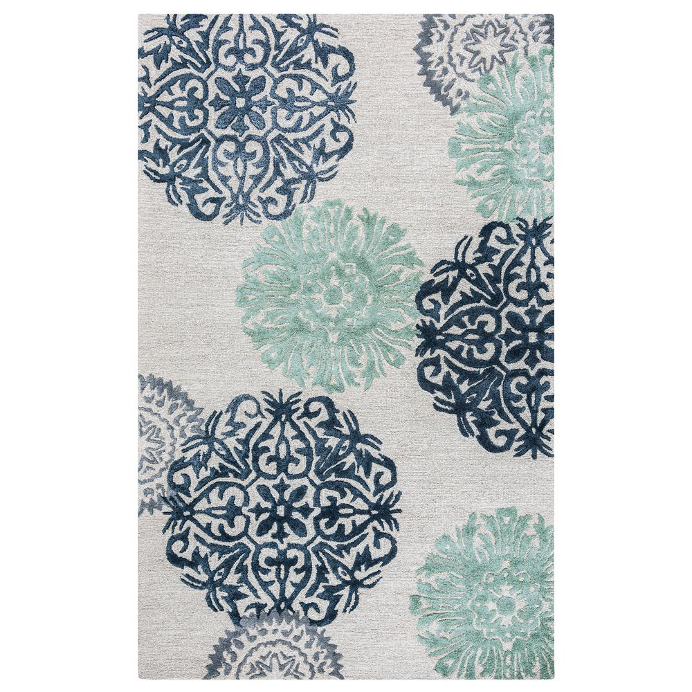 Rizzy Home Eden Harbor Grayblue 3 Ft X 5 Ft Rectangle Area Rug