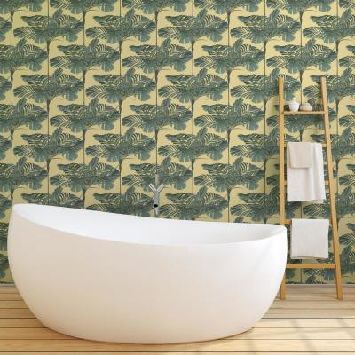 Debut Collection Mini Palms in Dusty Yellow Premium Matte Wallpaper