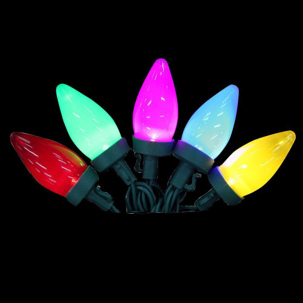 25-Light LED Multi-Color C9 Ceramic Light Set