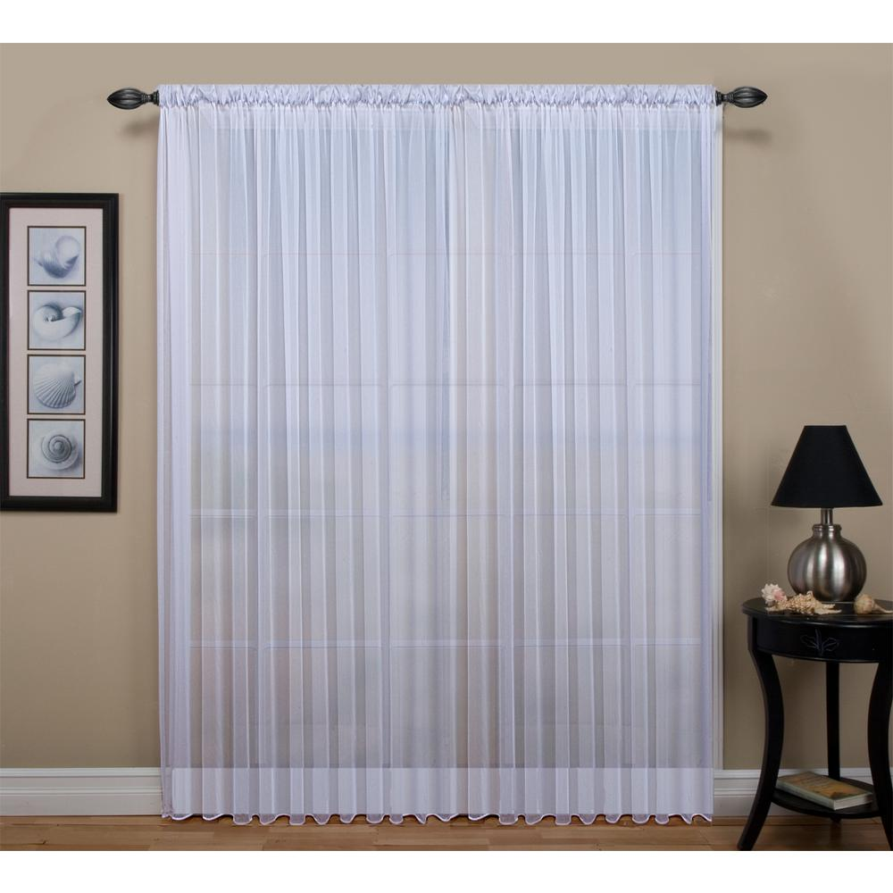 Sheer Tergaline Rod Pocket Curtain Panel 54 in. W x 84