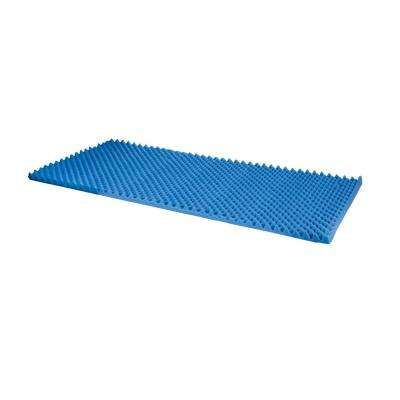 Hospital Bed Size 33 in. x 72 in. x 2 in. Convoluted Bed Pad