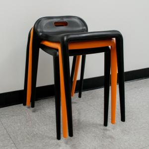 Surprising E Z Stacking 22 In Modern Plastic Black Accent Stool Chair Set Of 2 Caraccident5 Cool Chair Designs And Ideas Caraccident5Info