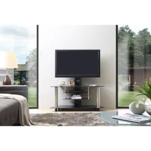 half off b5fdd 8471d 47 in. Wide Glass TV Stand with Swiveling Mount