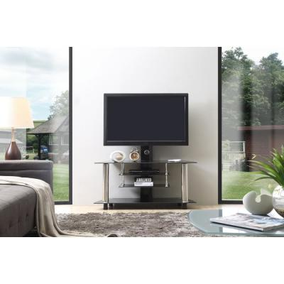 47 in. Wide Glass TV Stand with Swiveling Mount