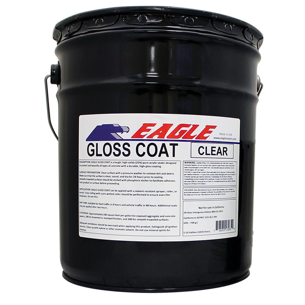 Eagle 5 gal  Gloss Coat Clear Wet Look Solvent-Based Acrylic Concrete Sealer