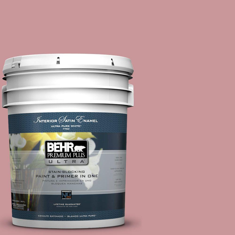 BEHR Premium Plus Ultra 5-gal. #S140-4 Minstrel Rose Satin Enamel Interior Paint