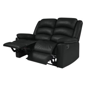 Admirable Prolounger Black Tuff Stuff Polyurethane Fabric Loveseat 2 Caraccident5 Cool Chair Designs And Ideas Caraccident5Info