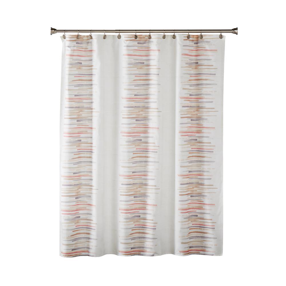 Mori 72 in. Blush Shower Curtain