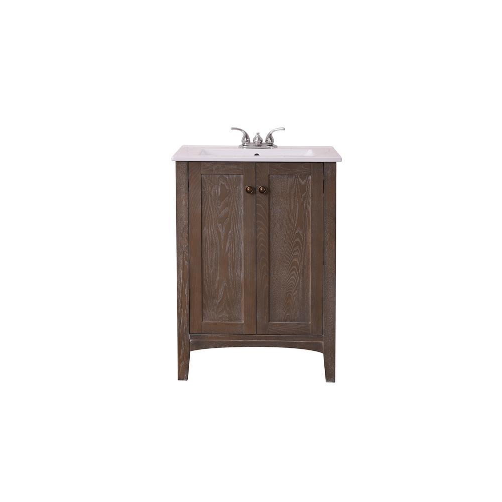 Charmant Single Bathroom Vanity With 1 Shelf 2 Doors Marble Top