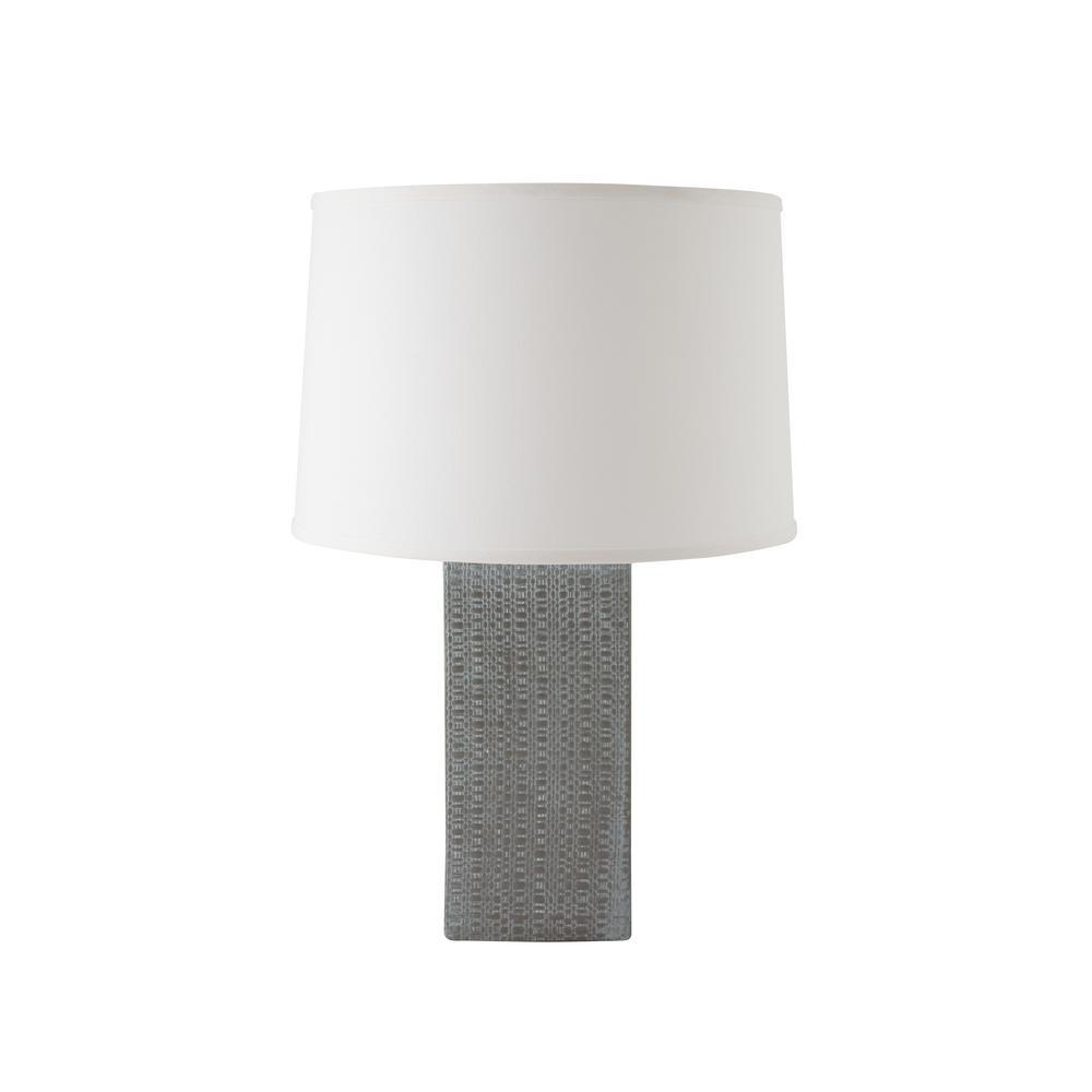 White Wash Gauntlet Grey Indoor Table L&  sc 1 st  Home Depot & Linen Textured 25 in. White Wash Gauntlet Grey Indoor Table Lamp-511 ...