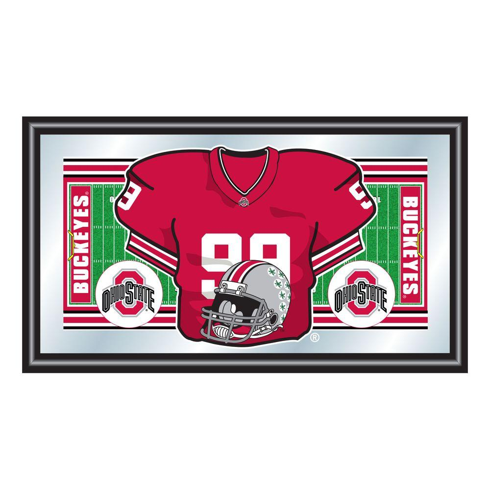 Ohio State Football Jersey 15 in. x 26 in. Black Wood