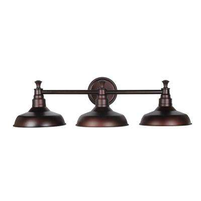 Industrial vanity lighting lighting the home depot kimball 3 light textured coffee bronze indoor vanity light mozeypictures Image collections