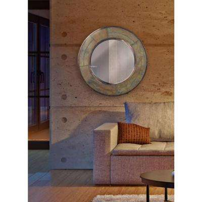 Keene 32 in. Round Steel Framed Mirror