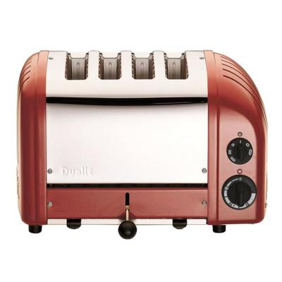 Dualit-New Gen 4-Slice Apple Candy Red Wide Slot Toaster with Cool-Touch Exterior