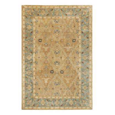 Menton Gold and Blue 3 ft. x 5 ft. Area Rug