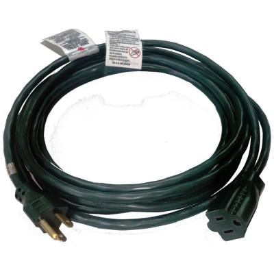 100 ft. 16/3 HDX Holiday Extension Cord in Green