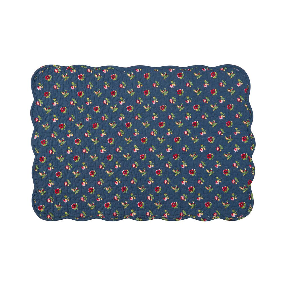 Blue Olivia Quilted Placemat (Set of 6)
