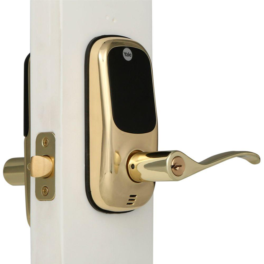 Yale Real Living Touch Screen Polished Brass Door Lever-084041 - The ...