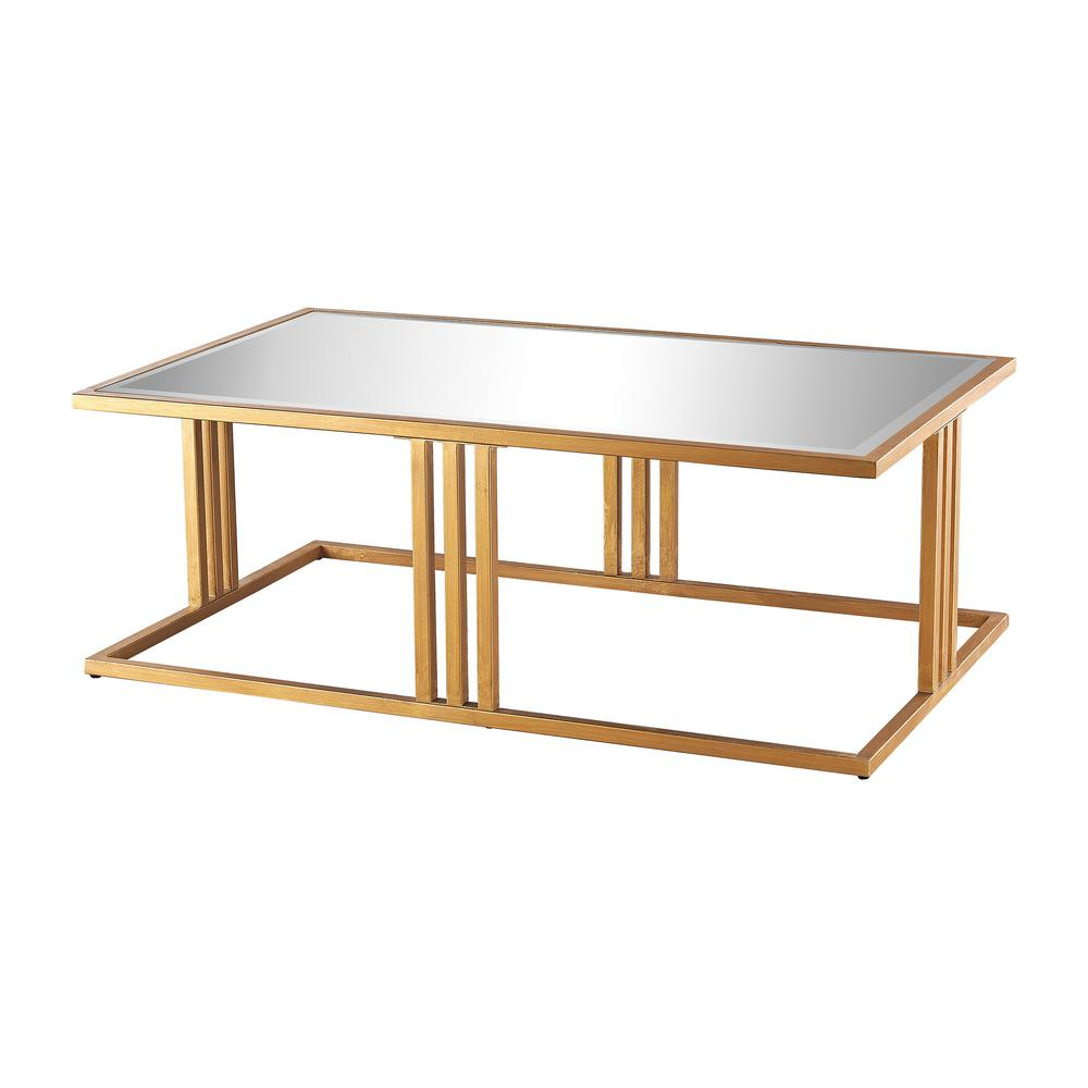 Titan Lighting Andy Gold Leaf And Mirror Coffee Table-TN