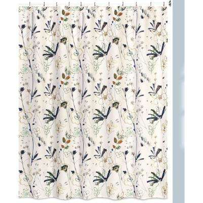 Primavera Floral Print Shower Curtain