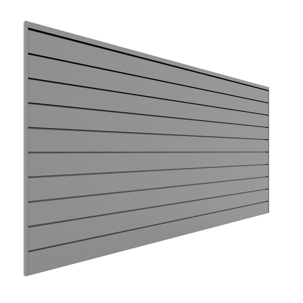 PVC Slatwall 8 ft. x 4 ft. Light Gray