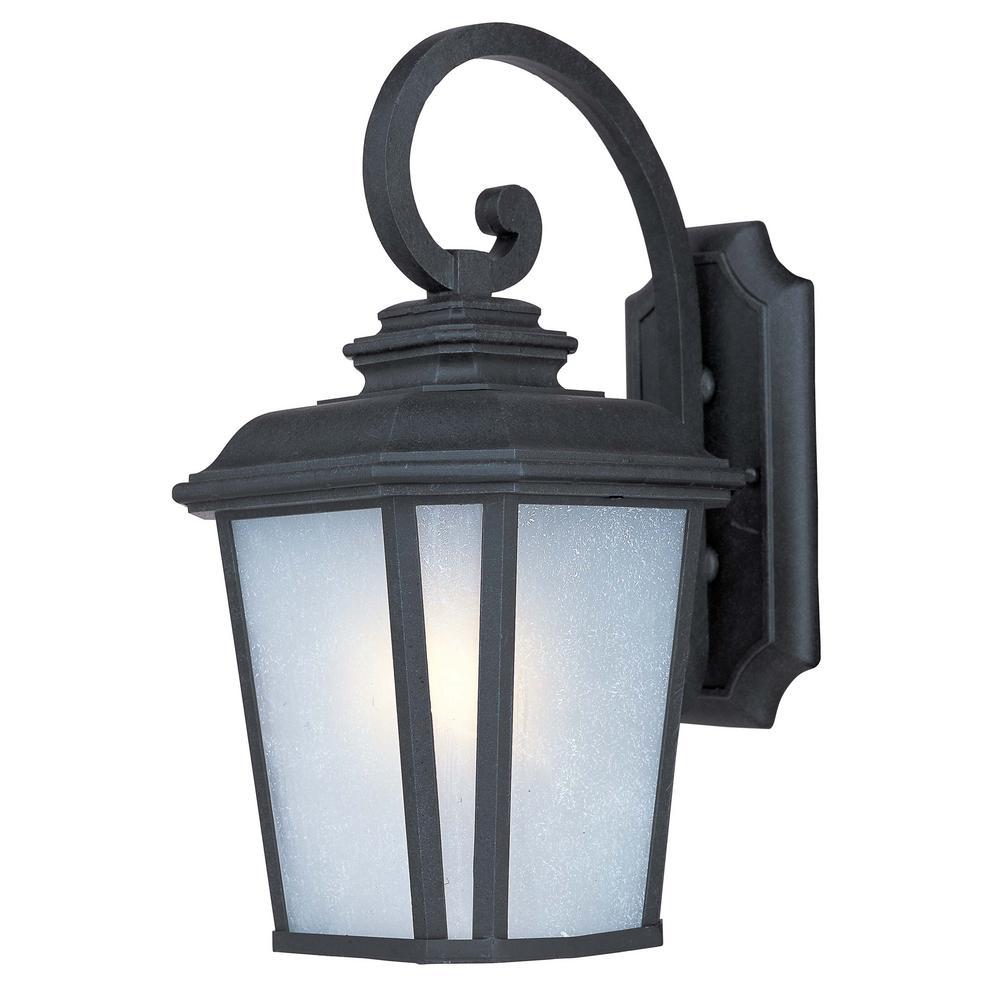 Radcliffe 9 in. W 1-Light Black Oxide Outdoor Wall Lantern Sconce