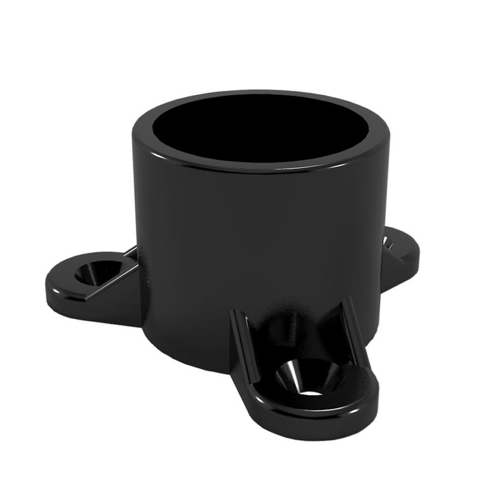 3/4 in. Furniture Grade PVC Table Screw Cap in Black (10-Pack)