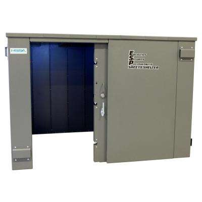 ESP 9.5 ft. x 7 ft. x 6.66 ft. Wheelchair Accessible Metal Tornado Safety Shelter