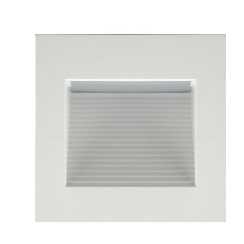 Nicor Square White Indoor And Outdoor Integrated Led Landscape Step Light