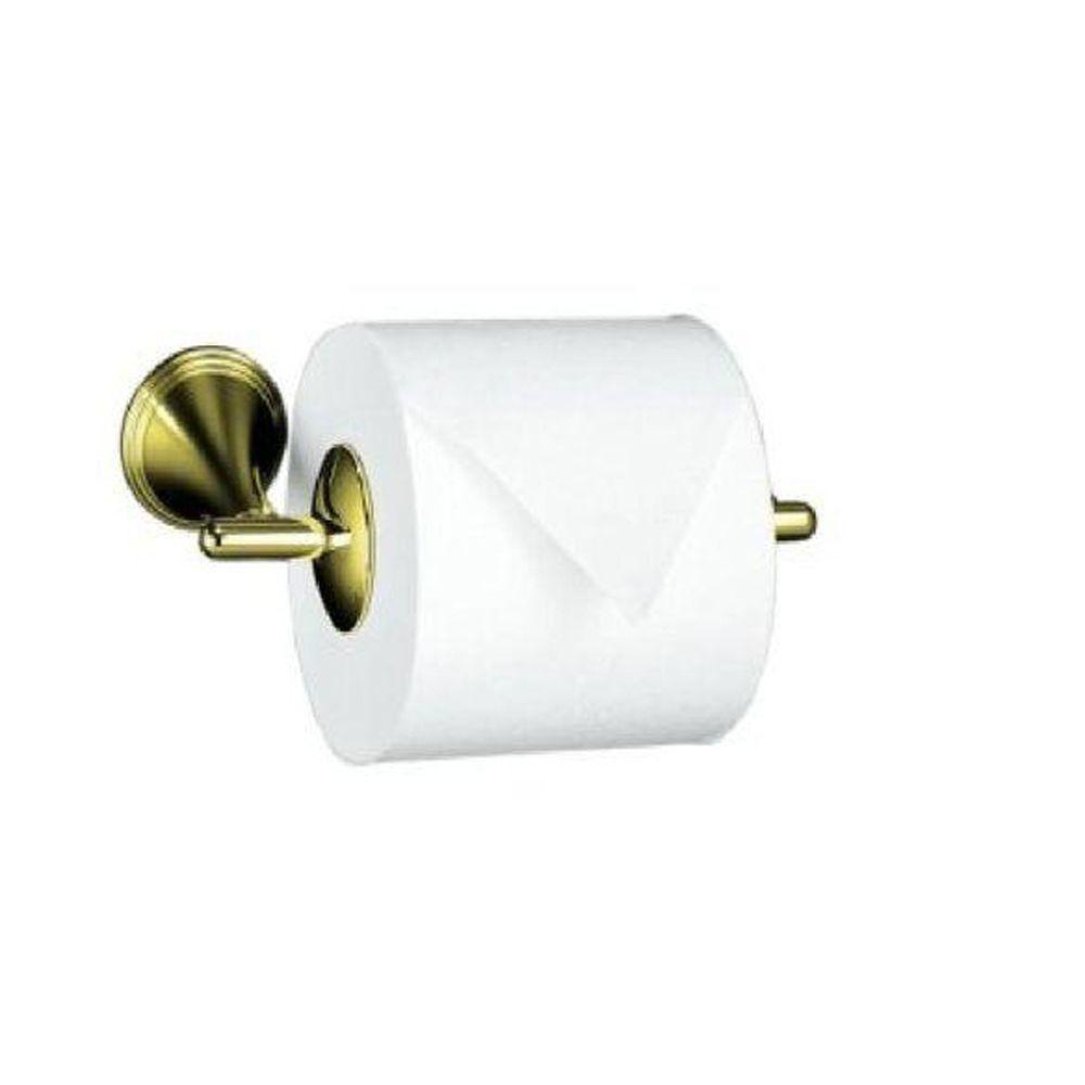 KOHLER Finial Traditional Wall-Mount Double Post Toilet Paper Holder in Vibrant Polished Brass-DISCONTINUED