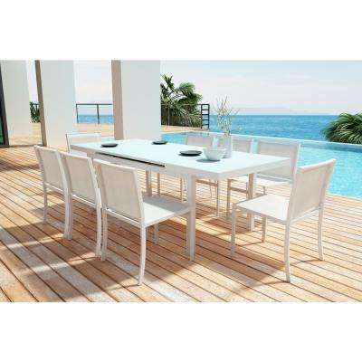 Enjoyable Mayakoba White Stationary Aluminum Outdoor Dining Chair 2 Pack Download Free Architecture Designs Ogrambritishbridgeorg