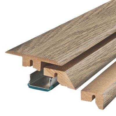 Highrock Grey Oak 3/4 in. Thick x 2-1/8 in. Wide x 78-3/4 in. Length Laminate 4-in-1 Molding