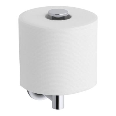 Purist Wall-Mount Single Post Toilet Paper Holder in Polished Chrome