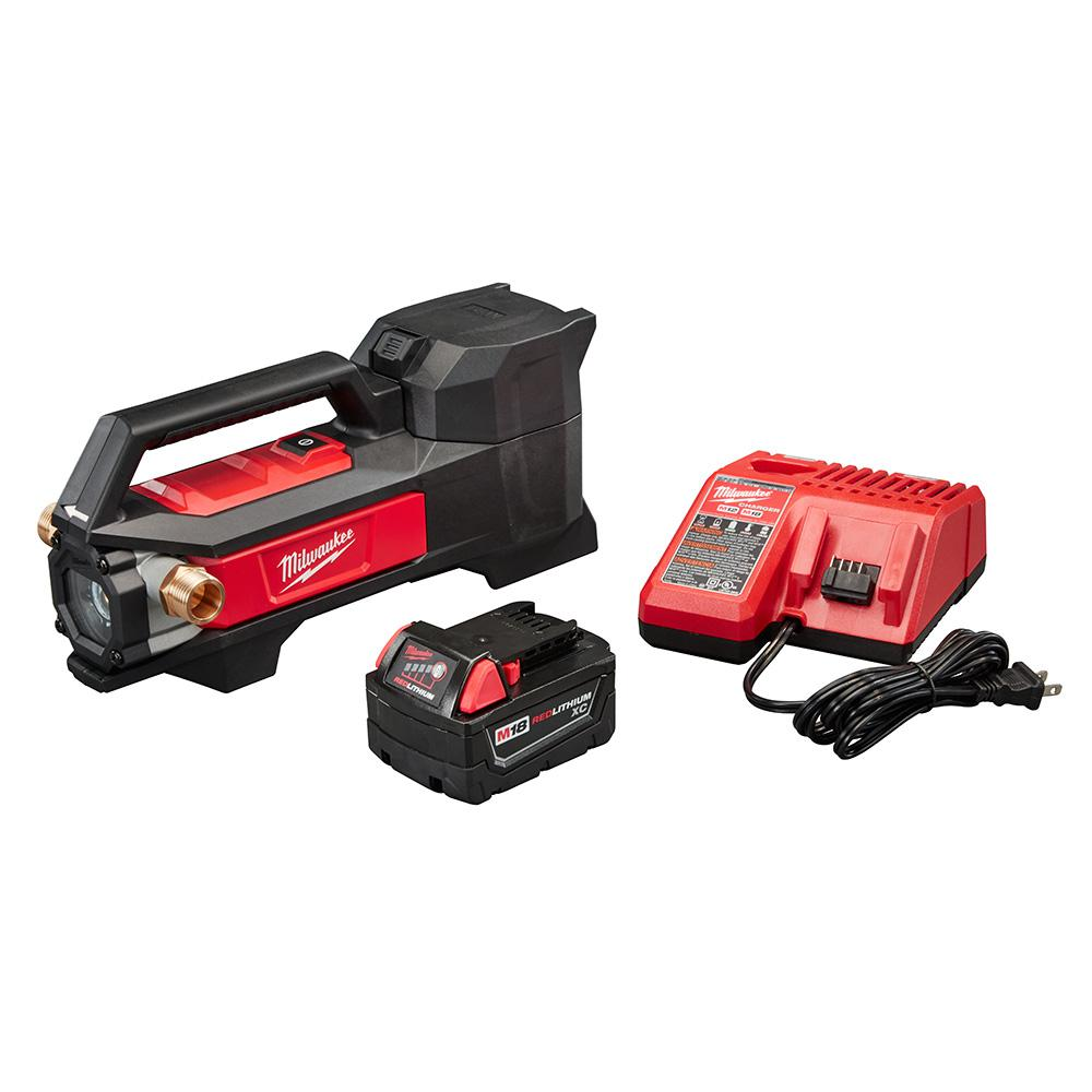 Milwaukee M18 18-Volt 1/4 HP Lithium-Ion Cordless Transfer Pump Kit with (1) 3.0Ah Battery and Charger