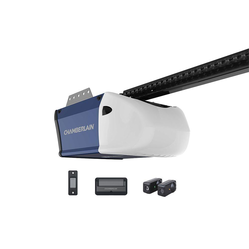 Chamberlain 12 hp chain drive garage door opener hd210 the home chamberlain 12 hp chain drive garage door opener rubansaba