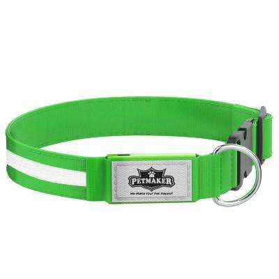 X-Large Green LED Dog Collar
